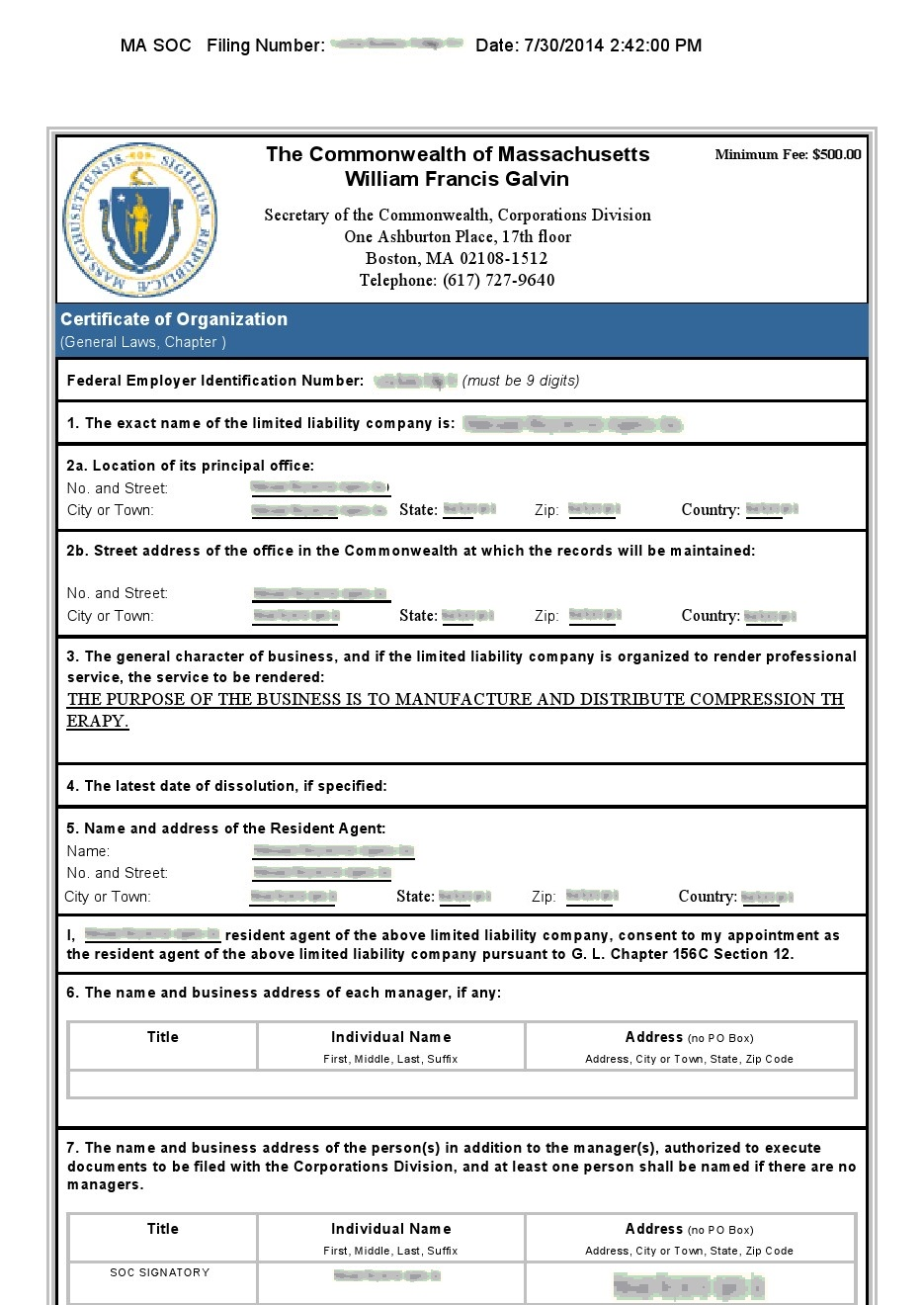 massachusetts -certificate-of-organization