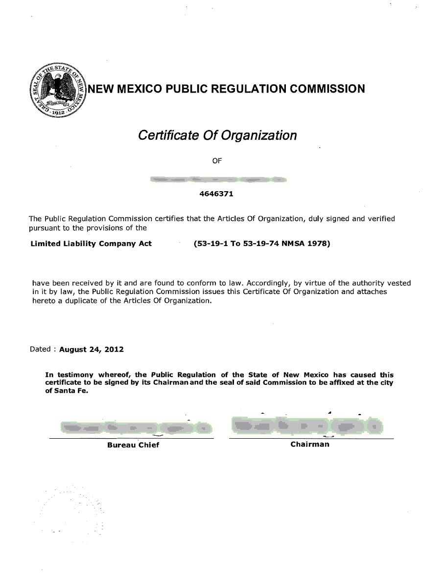New Mexico Incorporation Registered Agent Incparadise