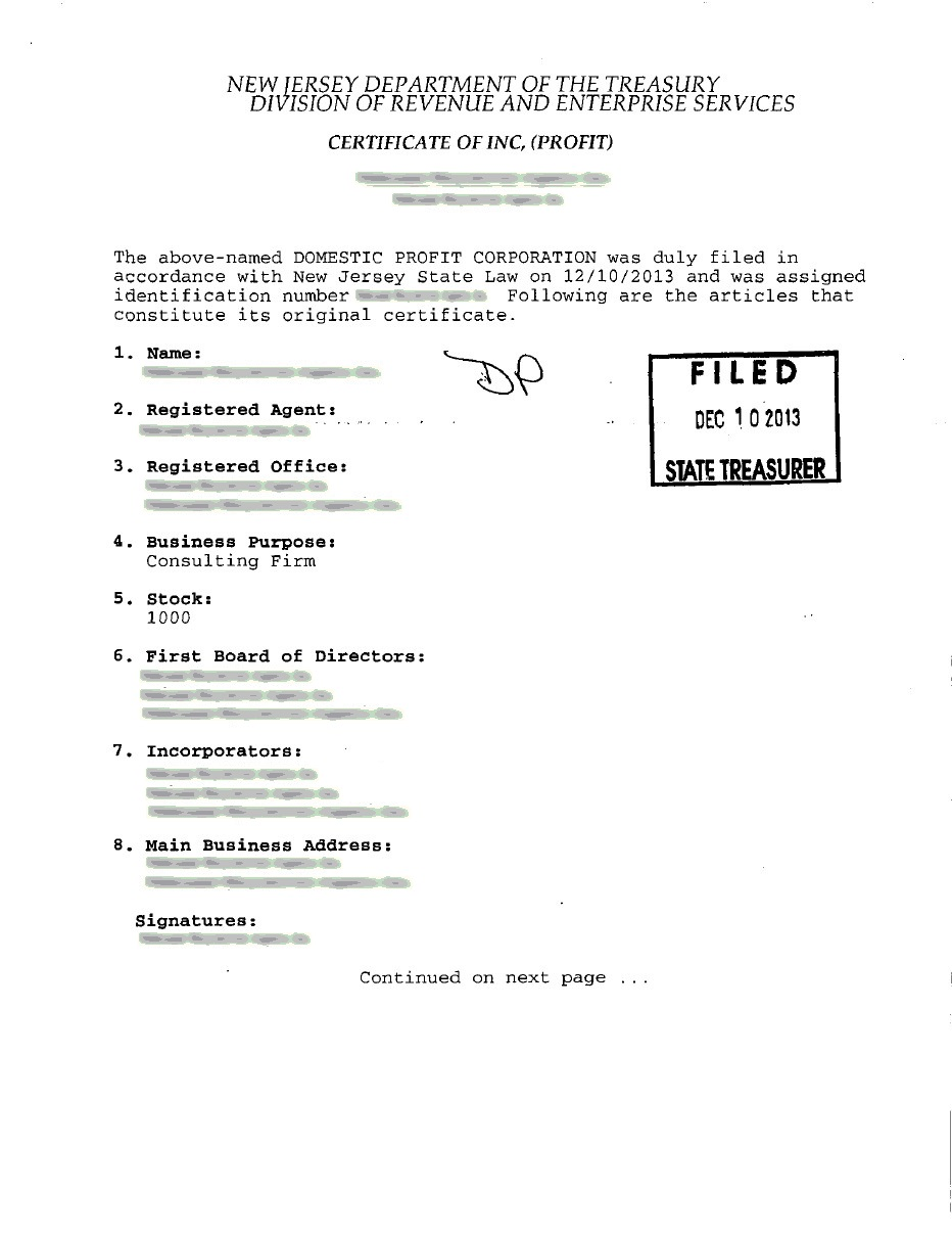 States archive page 6 of 80 incparadise certificate of incorporation 1st page xflitez Gallery